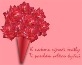 Obrázek růžové kytice