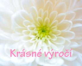 Přáníčko s bílou květinou