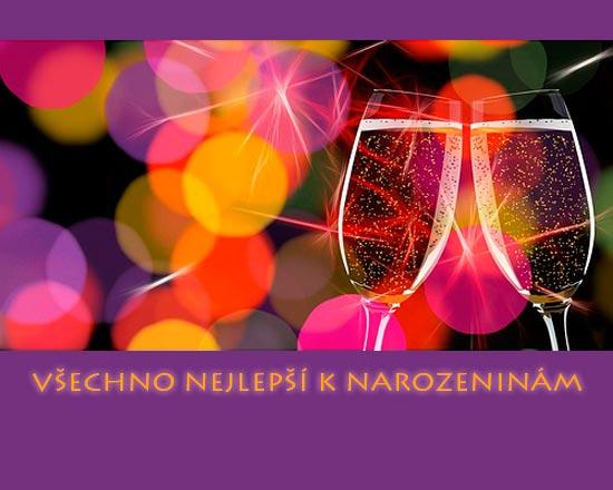 Pohlednice - šampaňské