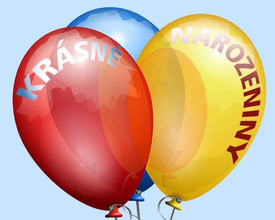 Pohlednice - barevné balónky