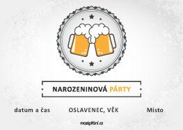 Pozvánka narozeniny pivo