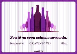 Pozvánka narozeniny vinobraní