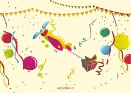 Narozeninová pohlednice balónky