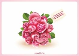 Pohlednice k svátku růže