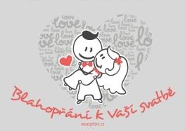 Svatební blahopřání navždy spolu