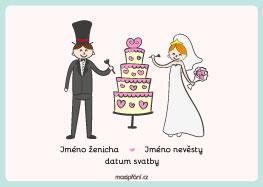 Pozvánka na svatbu dort