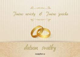 Pozvánka na svatbu prsteny