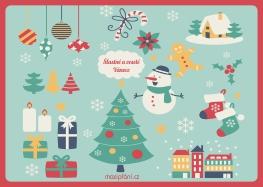 Přání k vánocům obrázkové