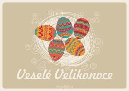Velikonoční pohlednice - Kraslice