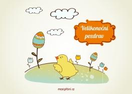 Velikonoční pohlednice - Kuřátko