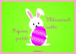 Velikonoční přání - Zajíček