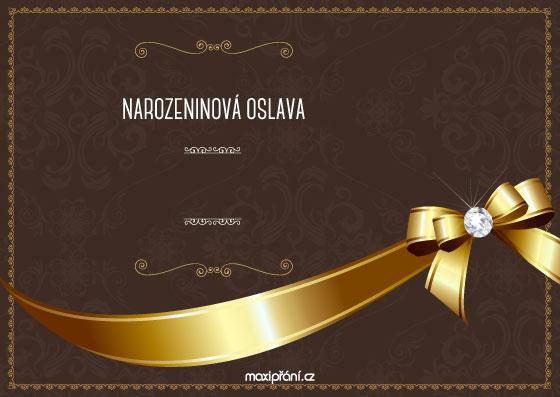 Obrázková pozvánka na oslavu narozenin - nerozbalitelná - přední strana
