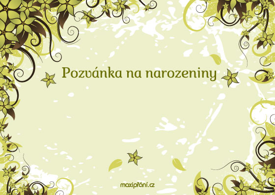šablona na pozvánku k narozeninám MaxiPřání.cz   obrázkové pozvánky na narozeniny, vzory pozvánek na  šablona na pozvánku k narozeninám
