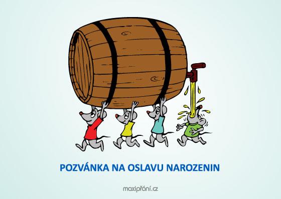 oslava narozenin pozvánka MaxiPřání.cz   Obrázková pozvánka na oslavu narozenin   soudek piva oslava narozenin pozvánka