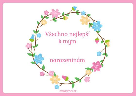 přání k narozeninám podle věku MaxiPřání.cz   Přání k narozeninám podle věku   kvetoucí přání k narozeninám podle věku