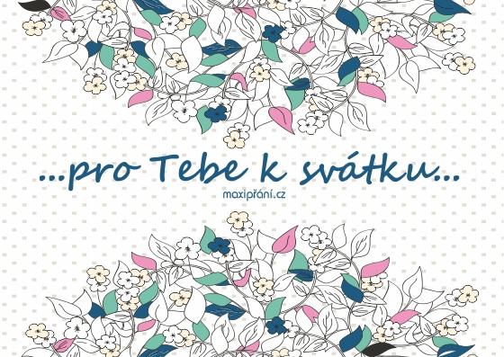 Obrázkové přání k svátku - květiny - přední strana