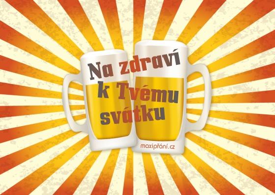 přání k svátku pohlednice MaxiPřání.cz   Obrázkové přání k svátku   pivo přání k svátku pohlednice