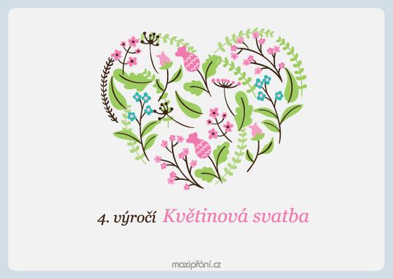 obrázky k výročí MaxiPřání.cz   Přání k 4. výročí svatby   květinová svatba obrázky k výročí