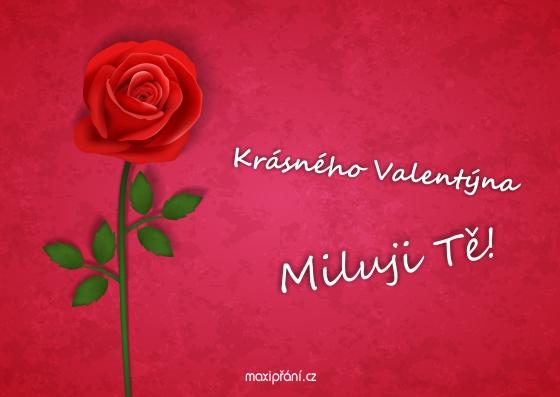přání k valentýnu obrázky MaxiPřání.cz   Přání k Valentýnu   Růže přání k valentýnu obrázky
