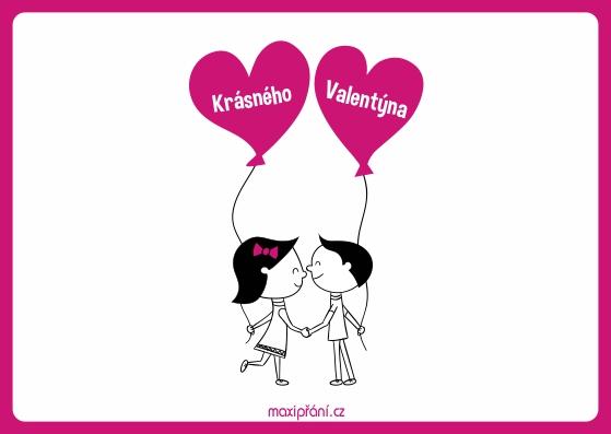 Valentýnské blahopřání - Zamilované - přední strana