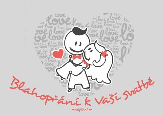 Svatební blahopřání novomanželům - navždy spolu - přední strana