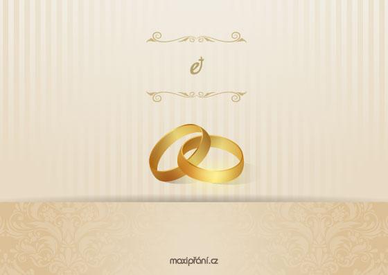 Svatební oznámení vzor - prsteny - přední strana