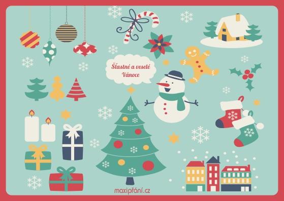 Vánoční přáníčko - Obrázkové - přední strana