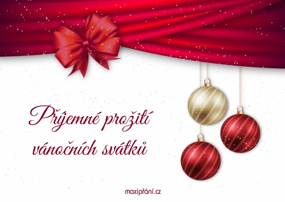 Vánoční blahopřání - Ozdoby - přední strana