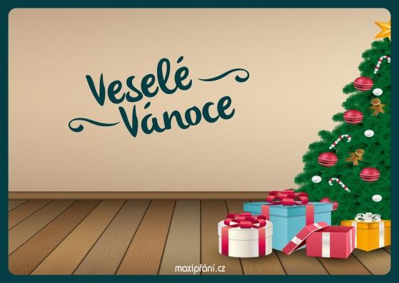 Vánoční přání - stromeček - přední strana