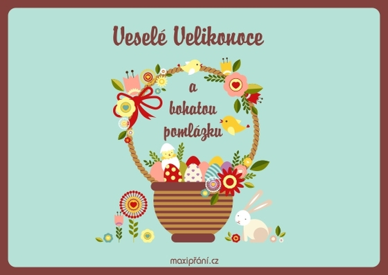 přání k velikonocům obrázky MaxiPřání.cz   Přání k Velikonocům obrázkové, kraslice přání k velikonocům obrázky