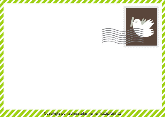Zadní strana - ecard